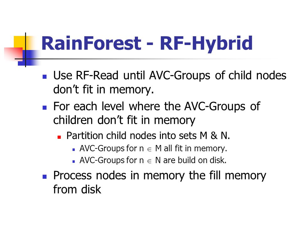 RainForest - RF-Hybrid Use RF-Read until AVC-Groups of child nodes don't fit in memory.