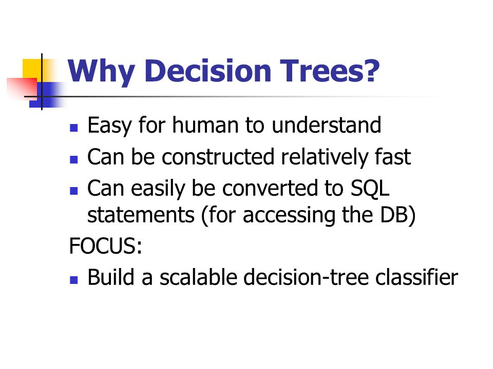 Why Decision Trees.