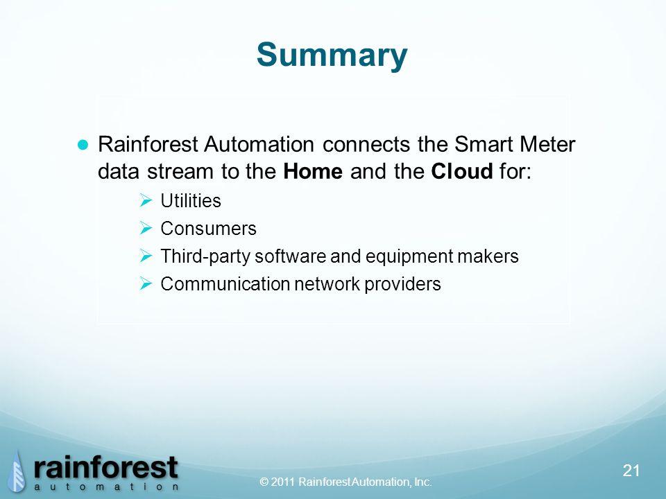 © 2011 Rainforest Automation, Inc.