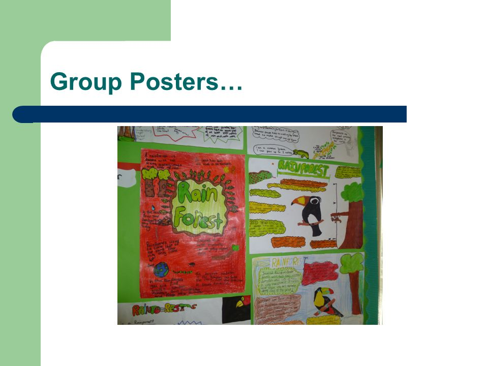 Group Posters…