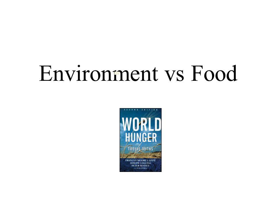 Environment vs Food