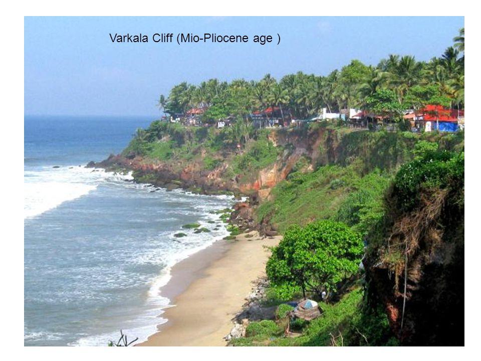 Varkala Cliff (Mio-Pliocene age )