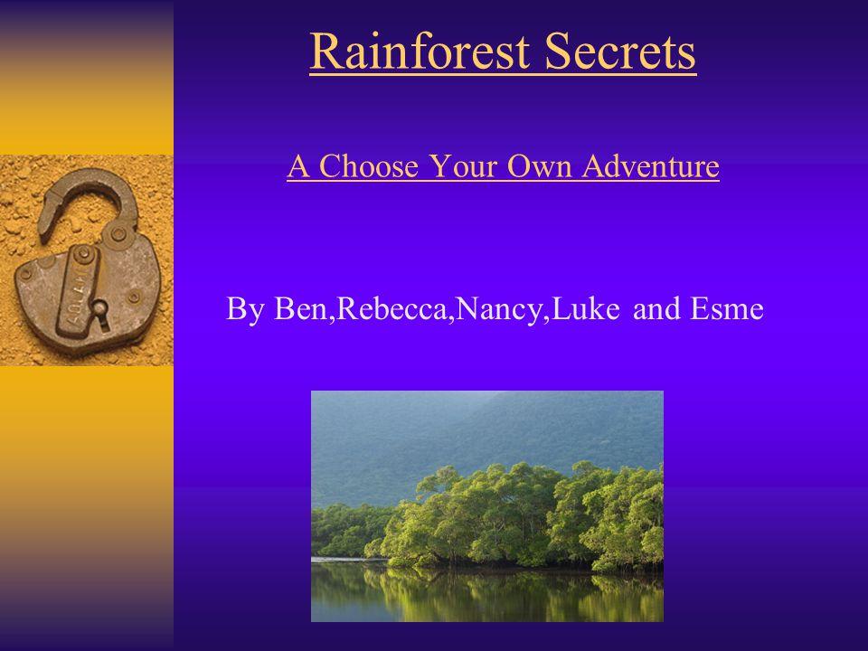 Rainforest Secrets A Choose Your Own Adventure By Ben,Rebecca,Nancy,Luke and Esme