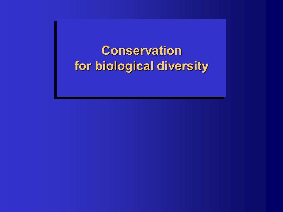 Conservation for biological diversity