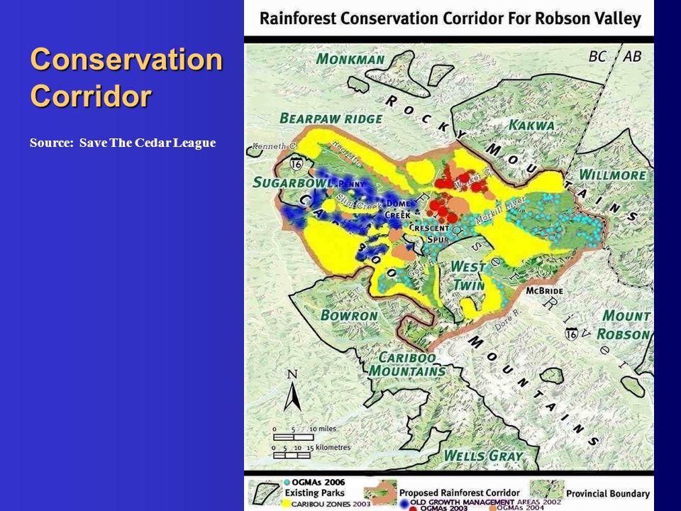 Conservation Corridor Source: Save The Cedar League