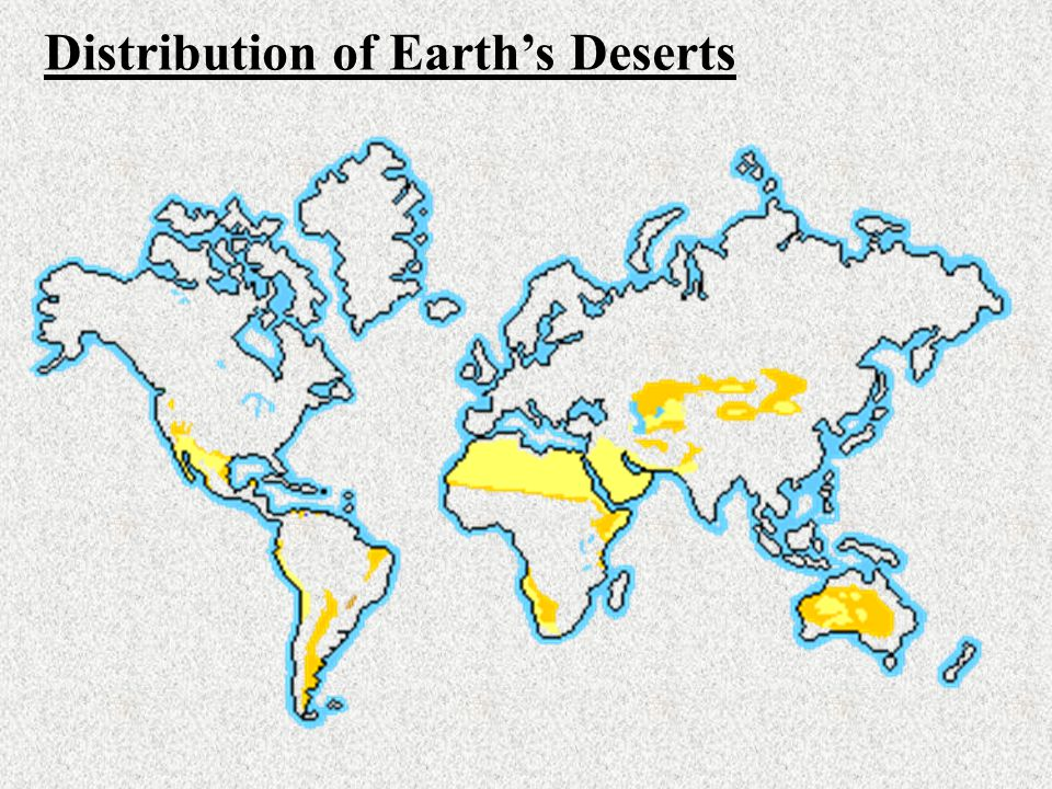 Distribution of Earth's Deserts