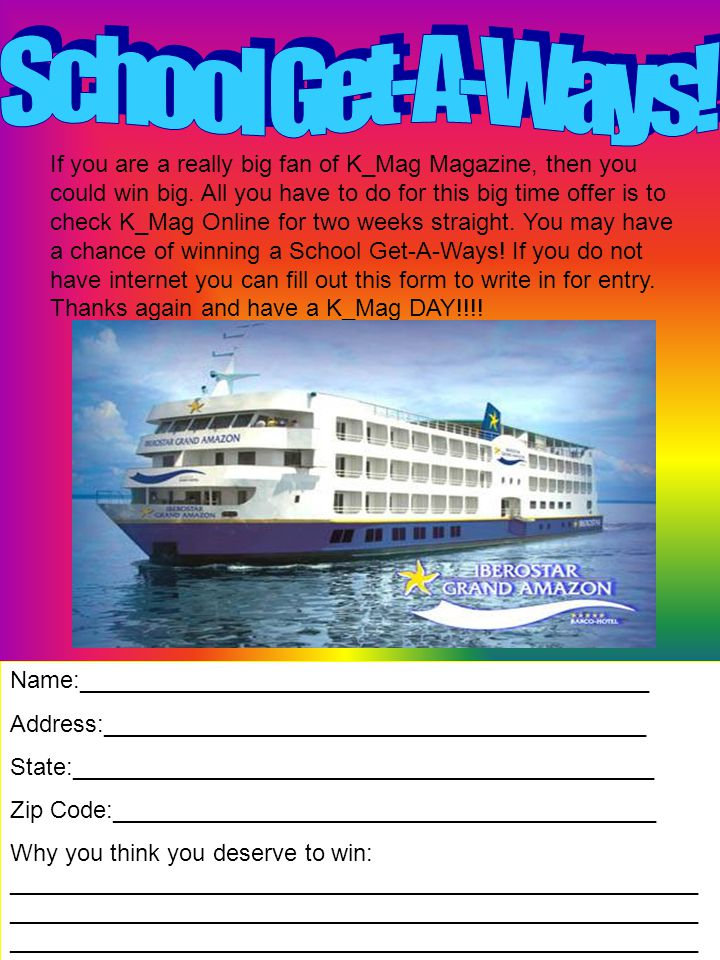 If you are a really big fan of K_Mag Magazine, then you could win big.