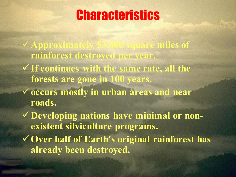 Causes - Natural Forest fires Flooding