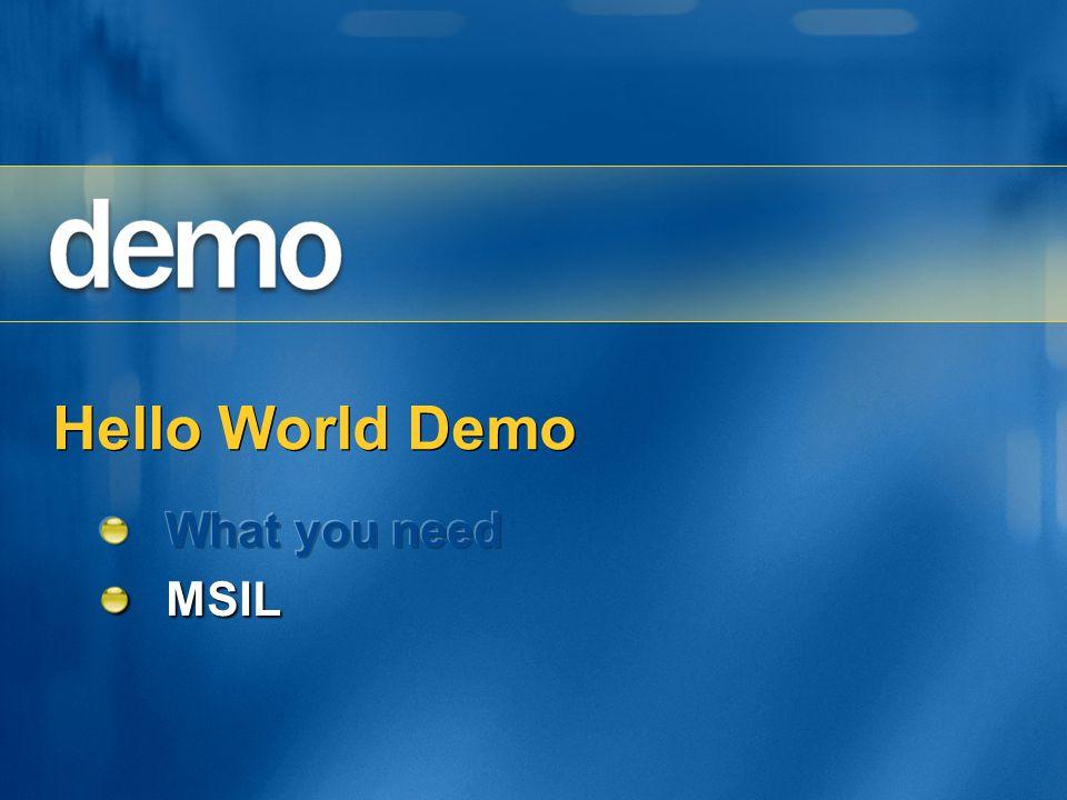 Hello World Demo
