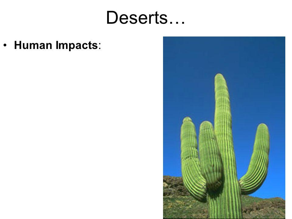 Deserts… Human Impacts: