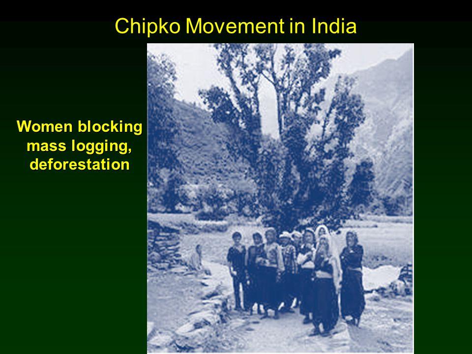 Cunningham - Cunningham - Saigo: Environmental Science 7 th Ed. Chipko Movement in India Women blocking mass logging, deforestation