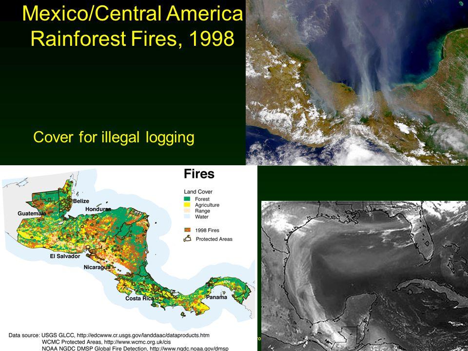 Cunningham - Cunningham - Saigo: Environmental Science 7 th Ed. Mexico/Central America Rainforest Fires, 1998 Cover for illegal logging