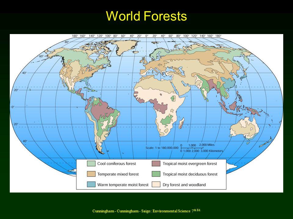 Desertification threatens forest edges