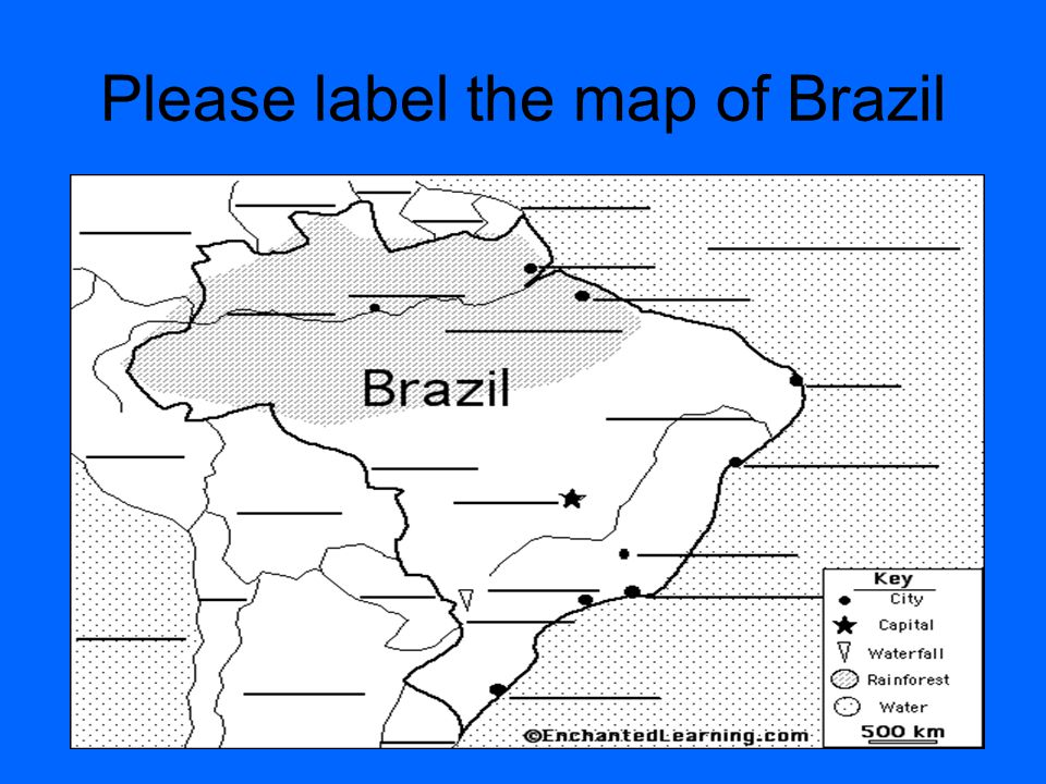 Please label the map of Brazil