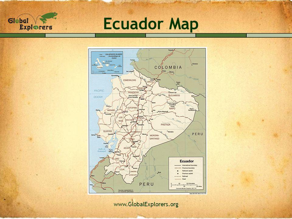 www.GlobalExplorers.org Ecuador Map
