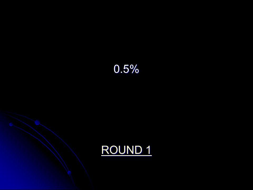 0.5% ROUND 1 ROUND 1