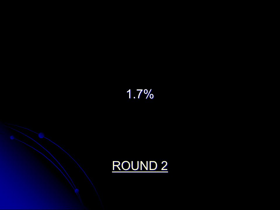 1.7% ROUND 2 ROUND 2