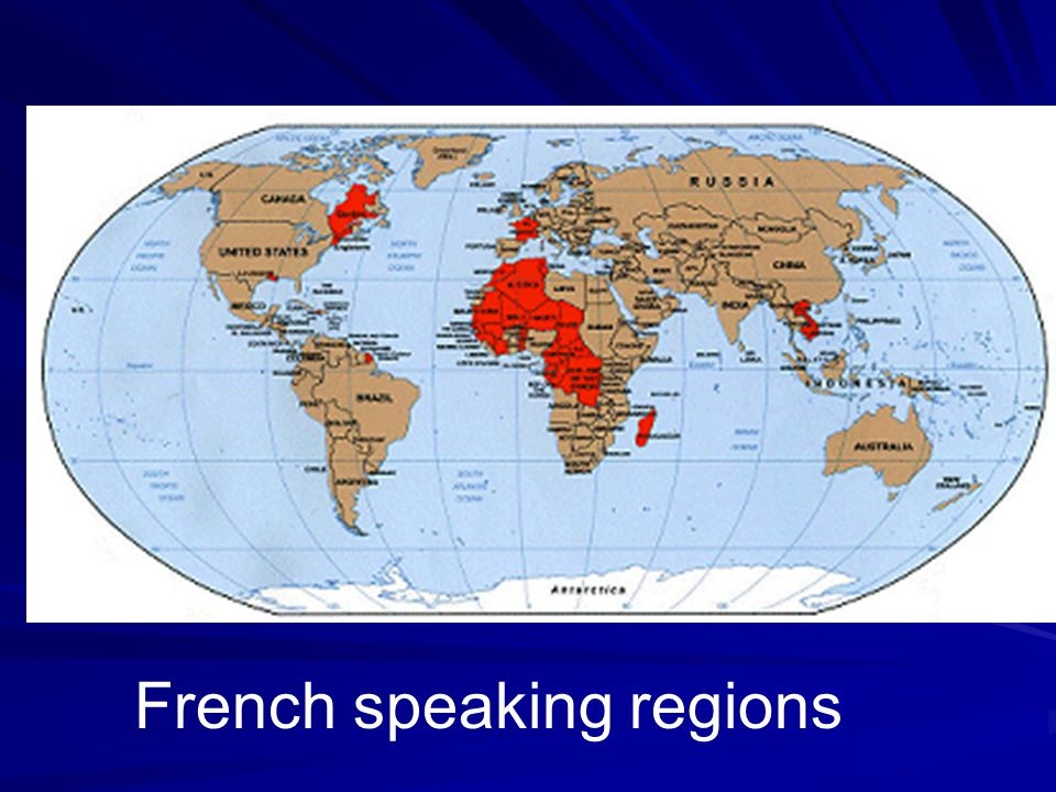 French speaking regions
