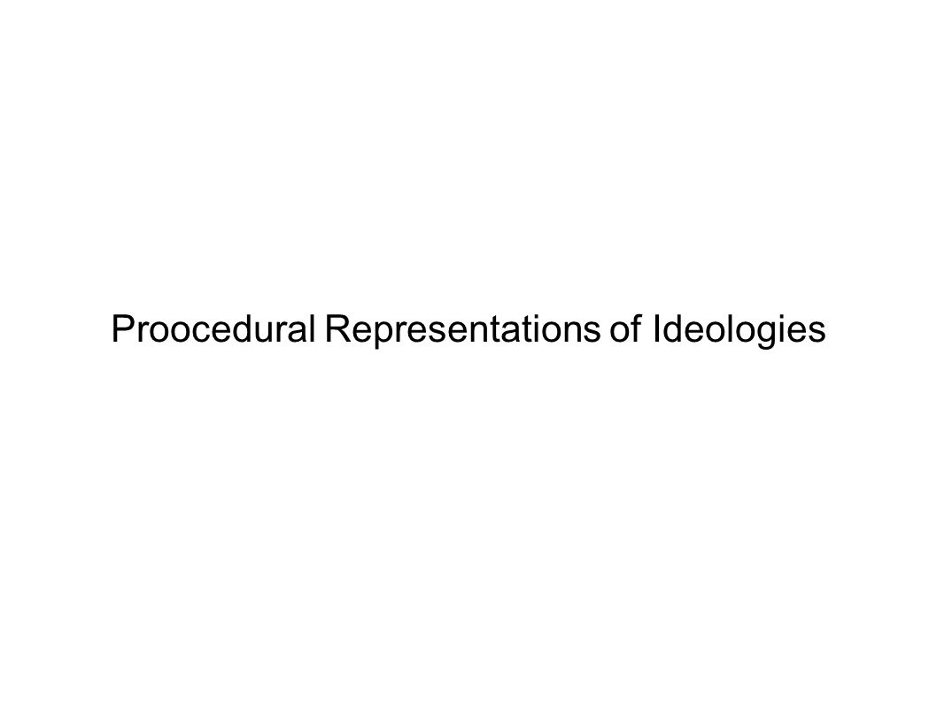 Proocedural Representations of Ideologies