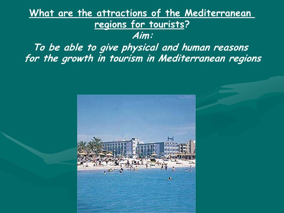 How does tourism threaten the Mediterranean environment.
