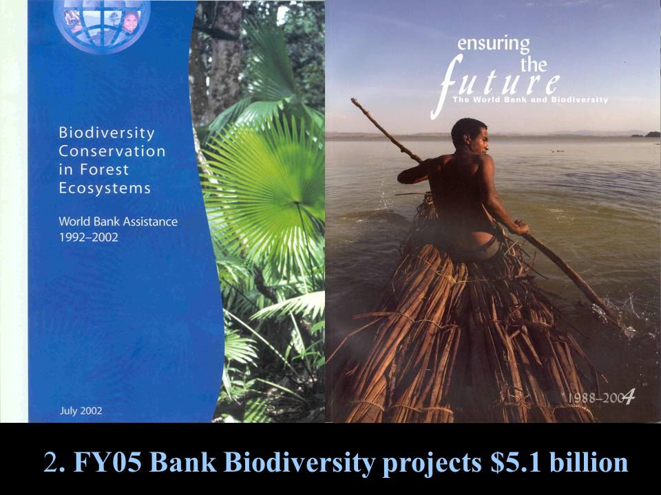 2. FY05 Bank Biodiversity projects $5.1 billion