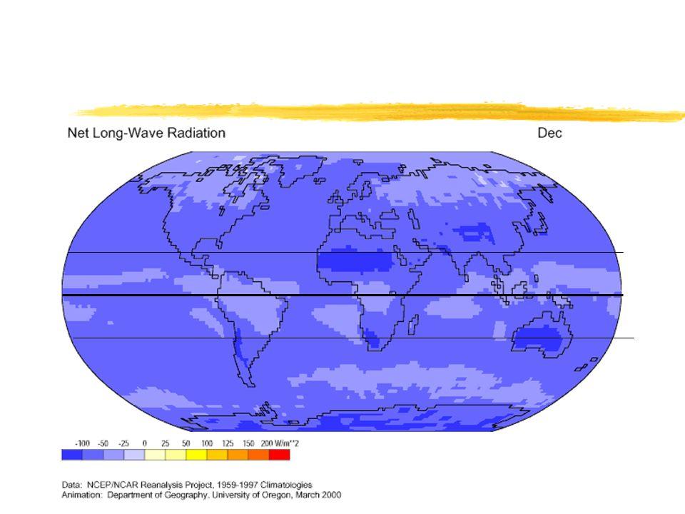 Global Distribution of Long Wave Radiation