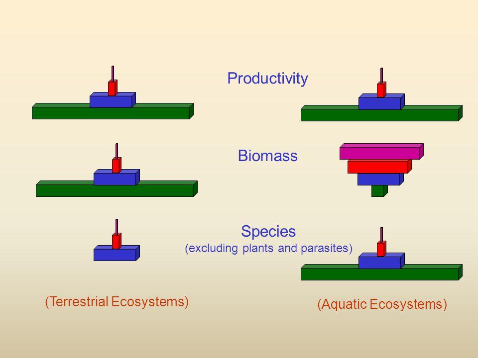 Productivity Species (excluding plants and parasites) Biomass (Terrestrial Ecosystems) (Aquatic Ecosystems)
