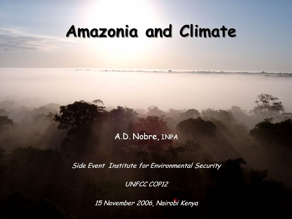 Amazonia and Climate A.D.