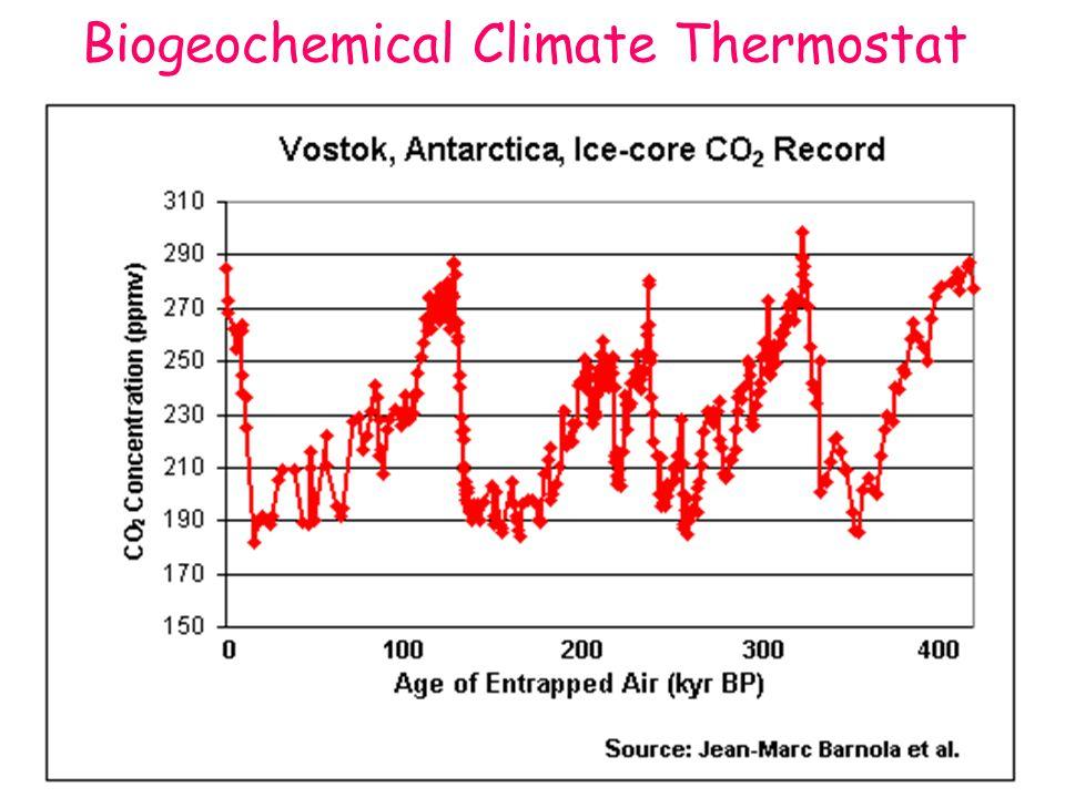 Biogeochemical Climate Thermostat