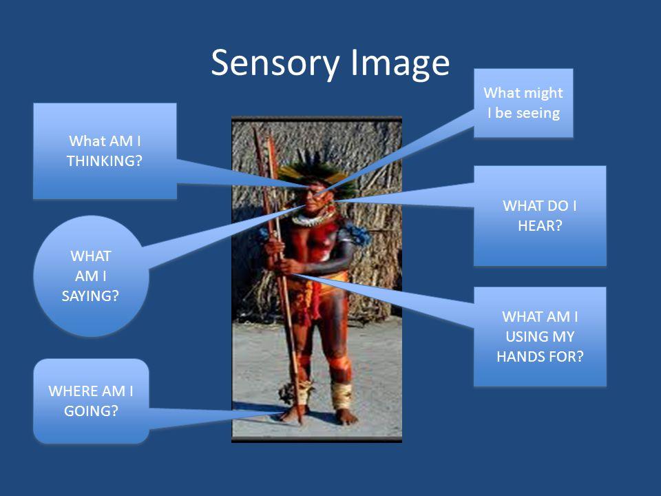 Sensory Image What AM I THINKING. WHAT DO I HEAR.