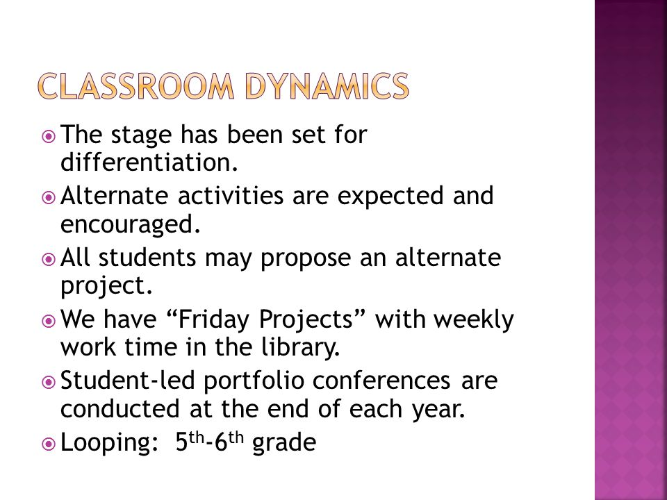  The stage has been set for differentiation.  Alternate activities are expected and encouraged.