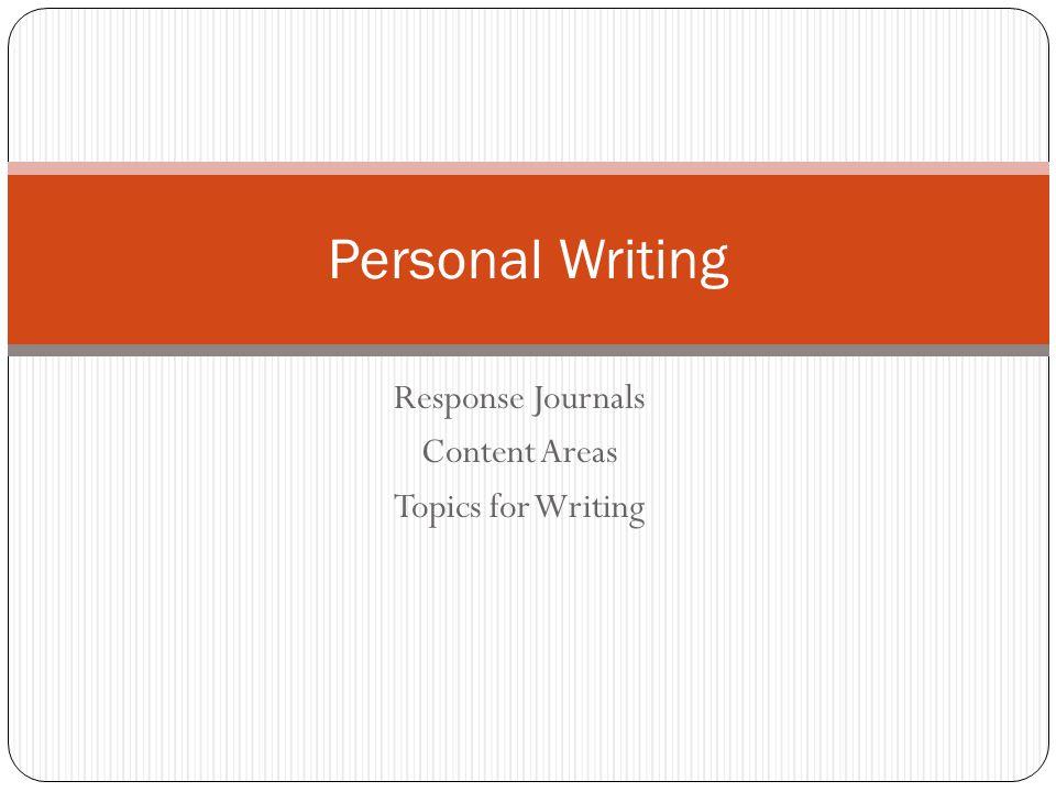 Integrating Reading and Writing Reader s Response