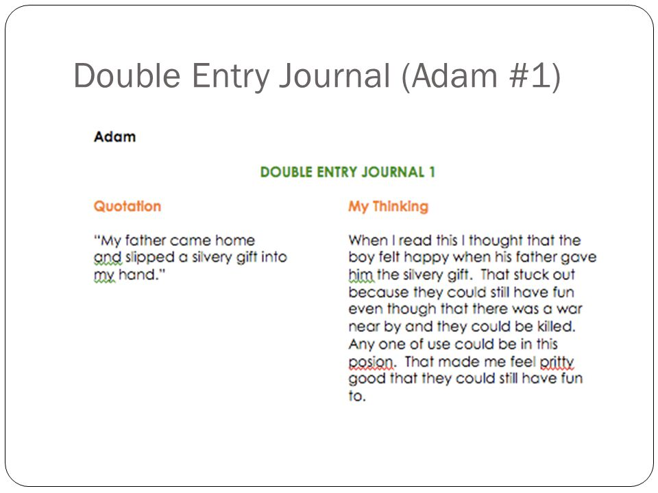 Double Entry Journal (Adam #1)