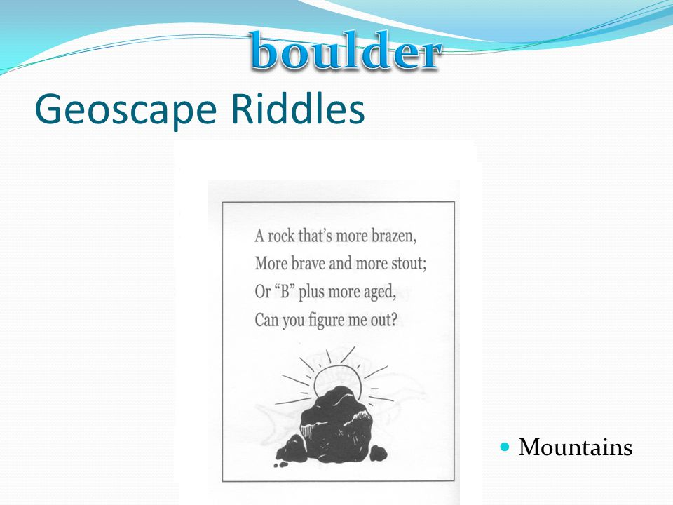 Geoscape Riddles Mountains