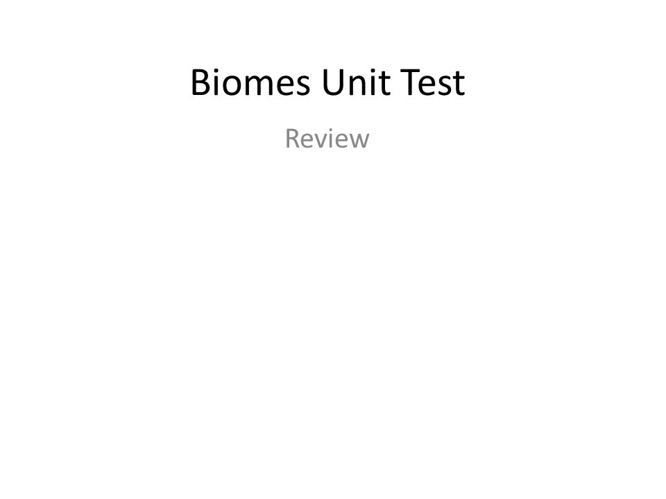 Which of these best describes biomes.A.