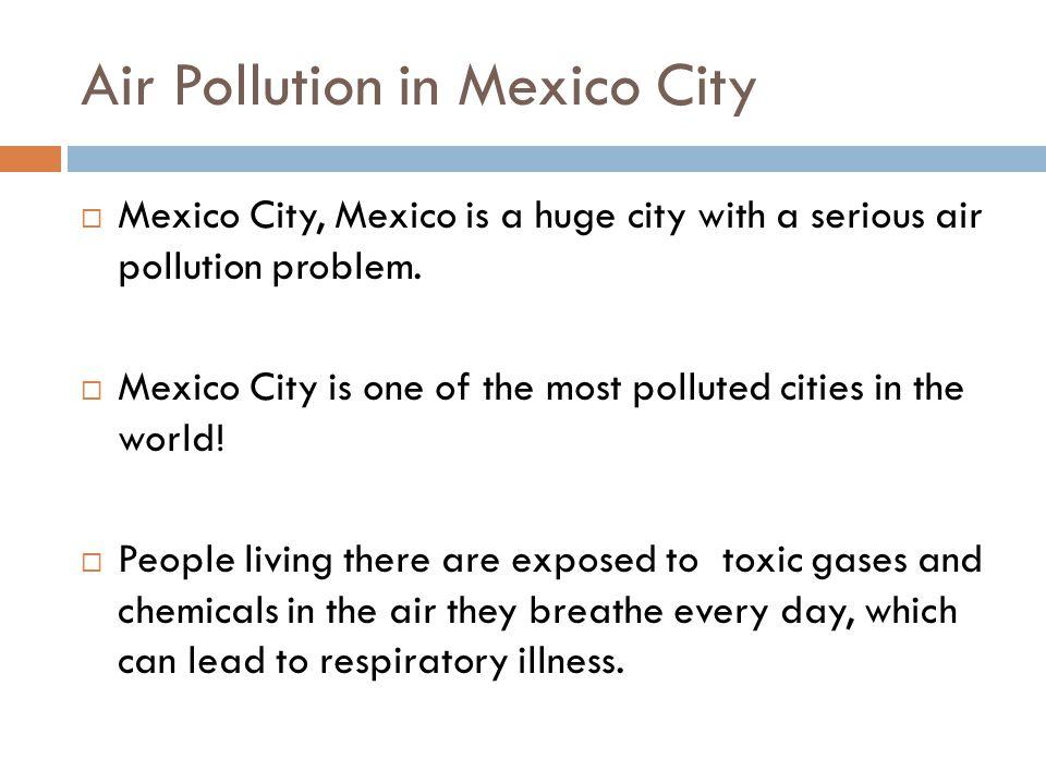 Write About It  Write a paragraph explaining how pollution has affected Venezuela.