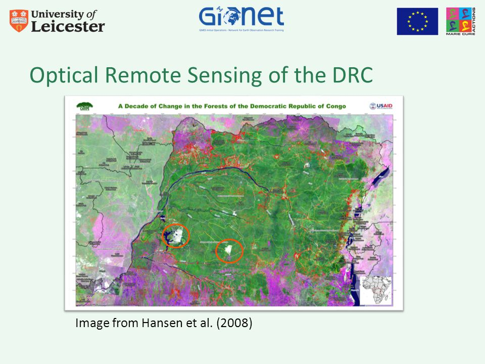 Optical Remote Sensing of the DRC Image from Hansen et al. (2008)