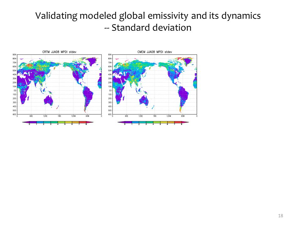 18 Validating modeled global emissivity and its dynamics -- Standard deviation