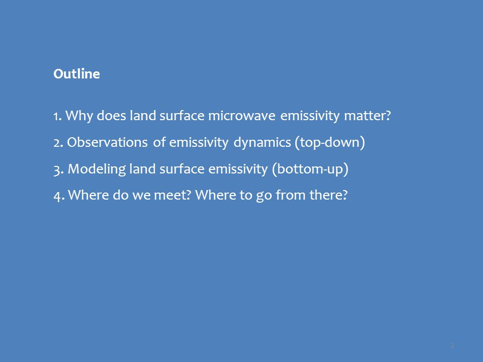 3 Land surface emissivity affects precipitation retrievals -- heterogeneous and dynamic