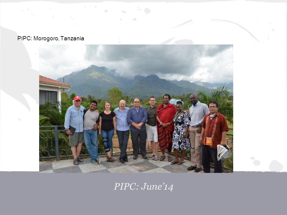 PIPC: Morogoro, Tanzania PIPC: June'14