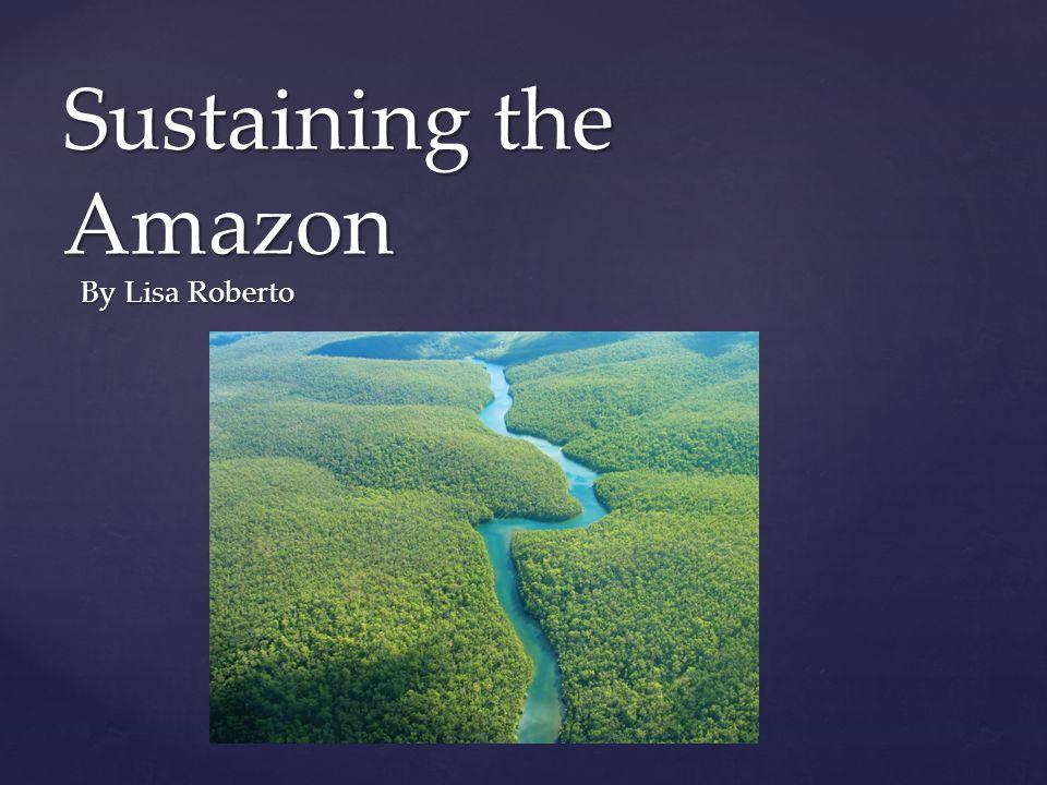 { Sustaining the Amazon By Lisa Roberto