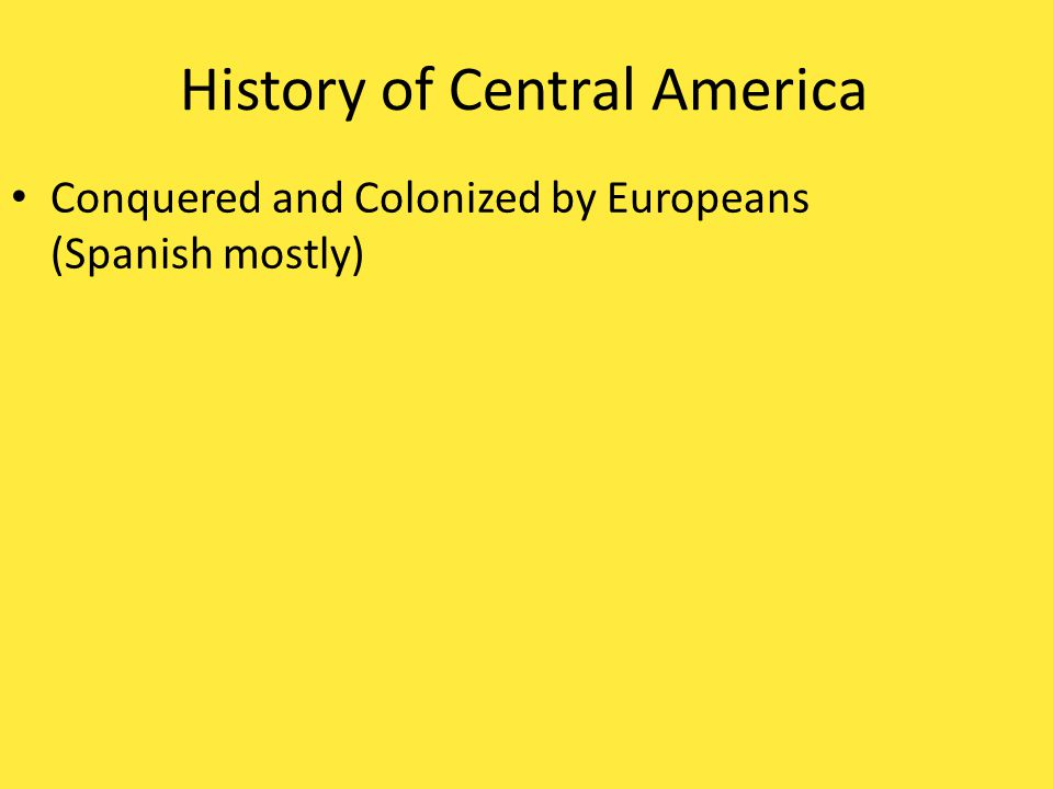 History of Central America
