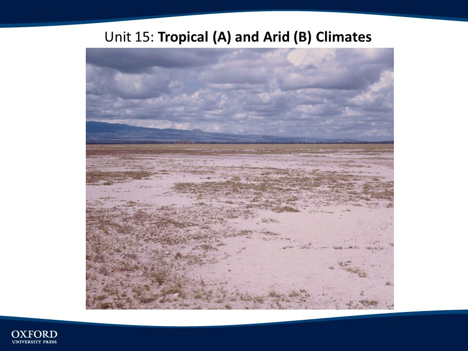 Unit 15: Tropical (A) and Arid (B) Climates