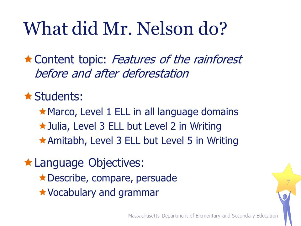 What did Mr.Nelson do.