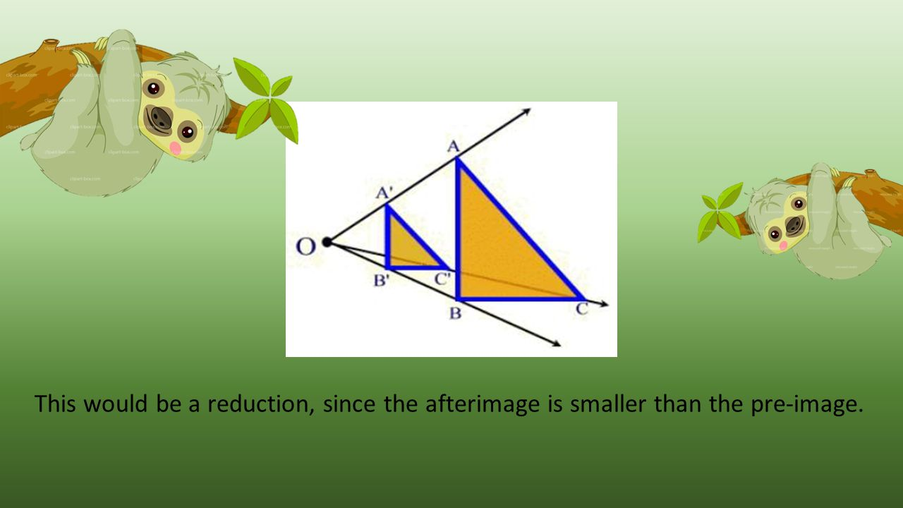 This would be a reduction, since the afterimage is smaller than the pre-image.
