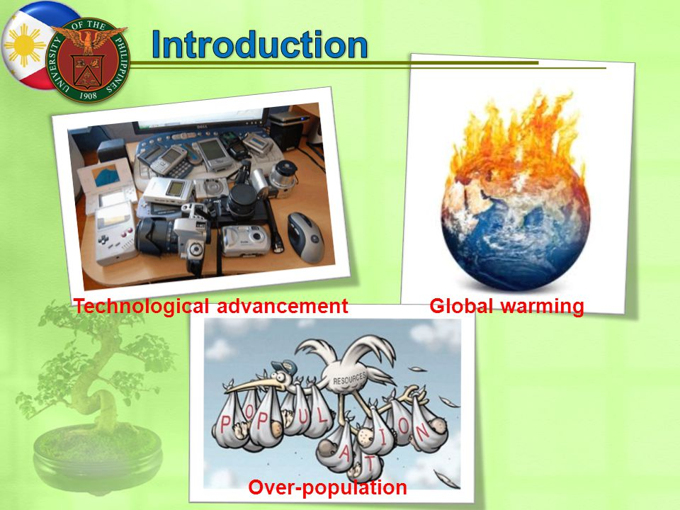 Technological advancementGlobal warming Over-population