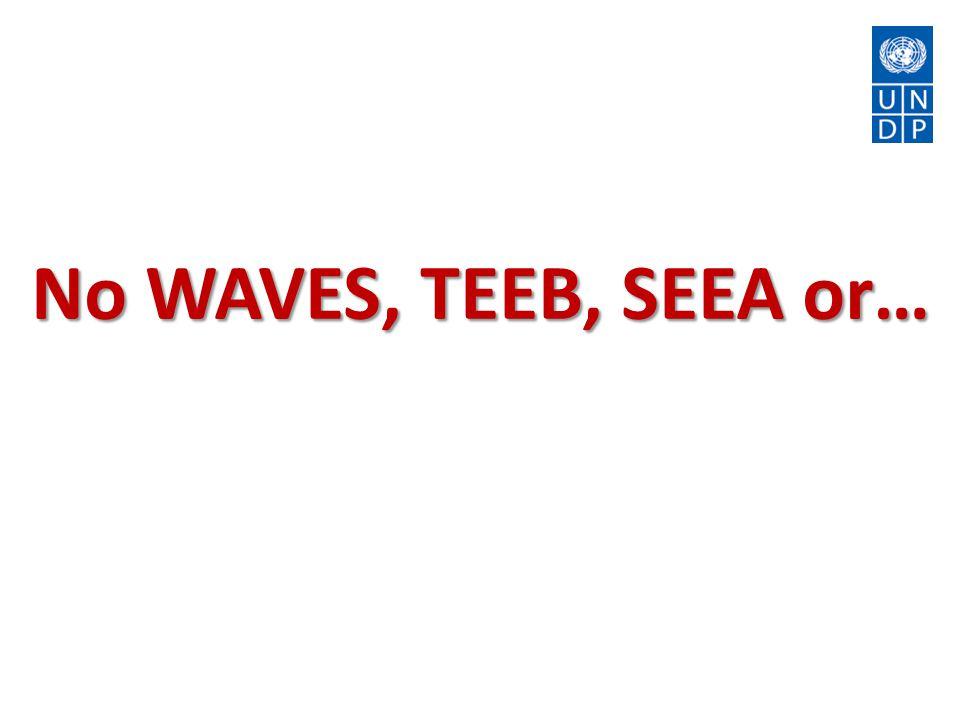 No WAVES, TEEB, SEEA or…