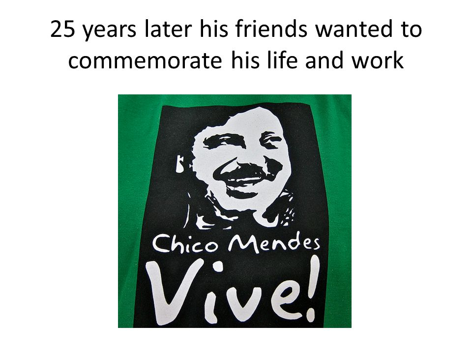 25 years later his friends wanted to commemorate his life and work