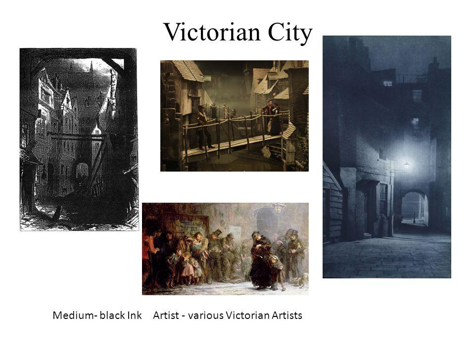 Victorian City Medium- black Ink Artist - various Victorian Artists