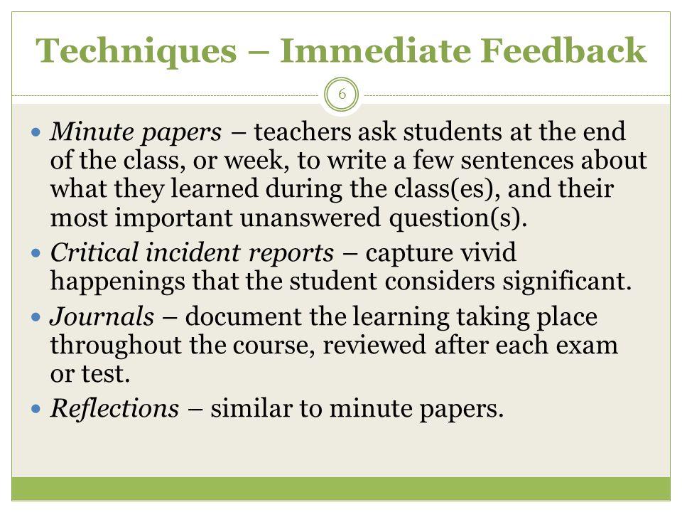 Methods Exams – multiple choice, true-false, extended response, etc.
